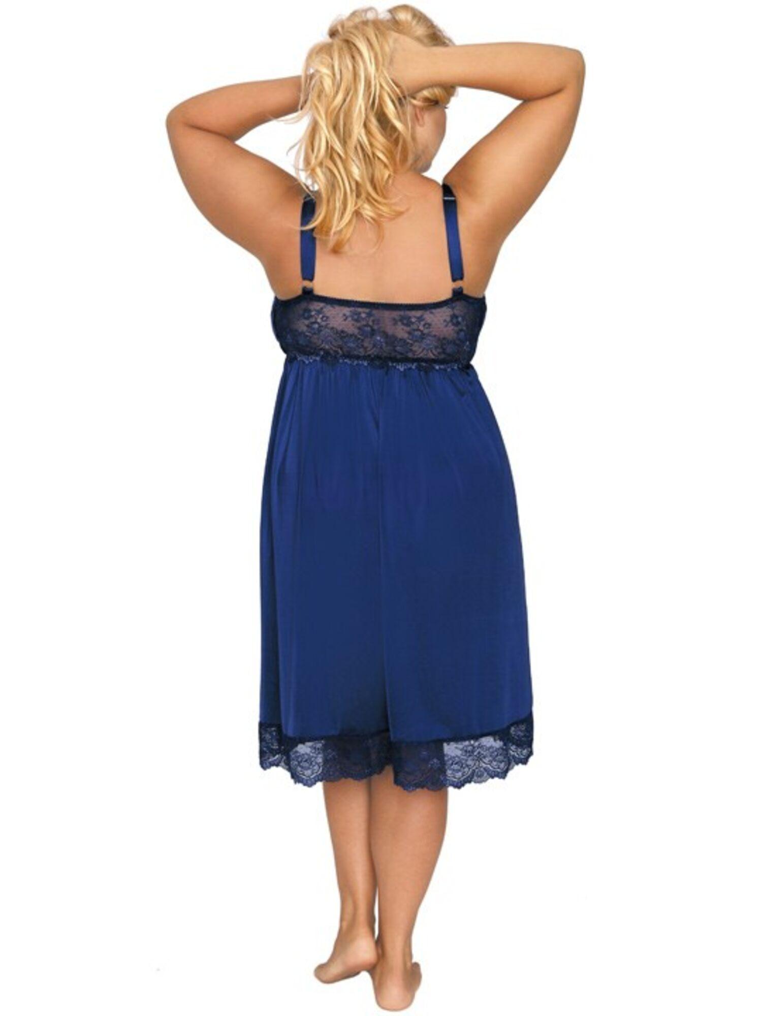 Сорочка женская из микрофибры AK_501, синий, AKCENT