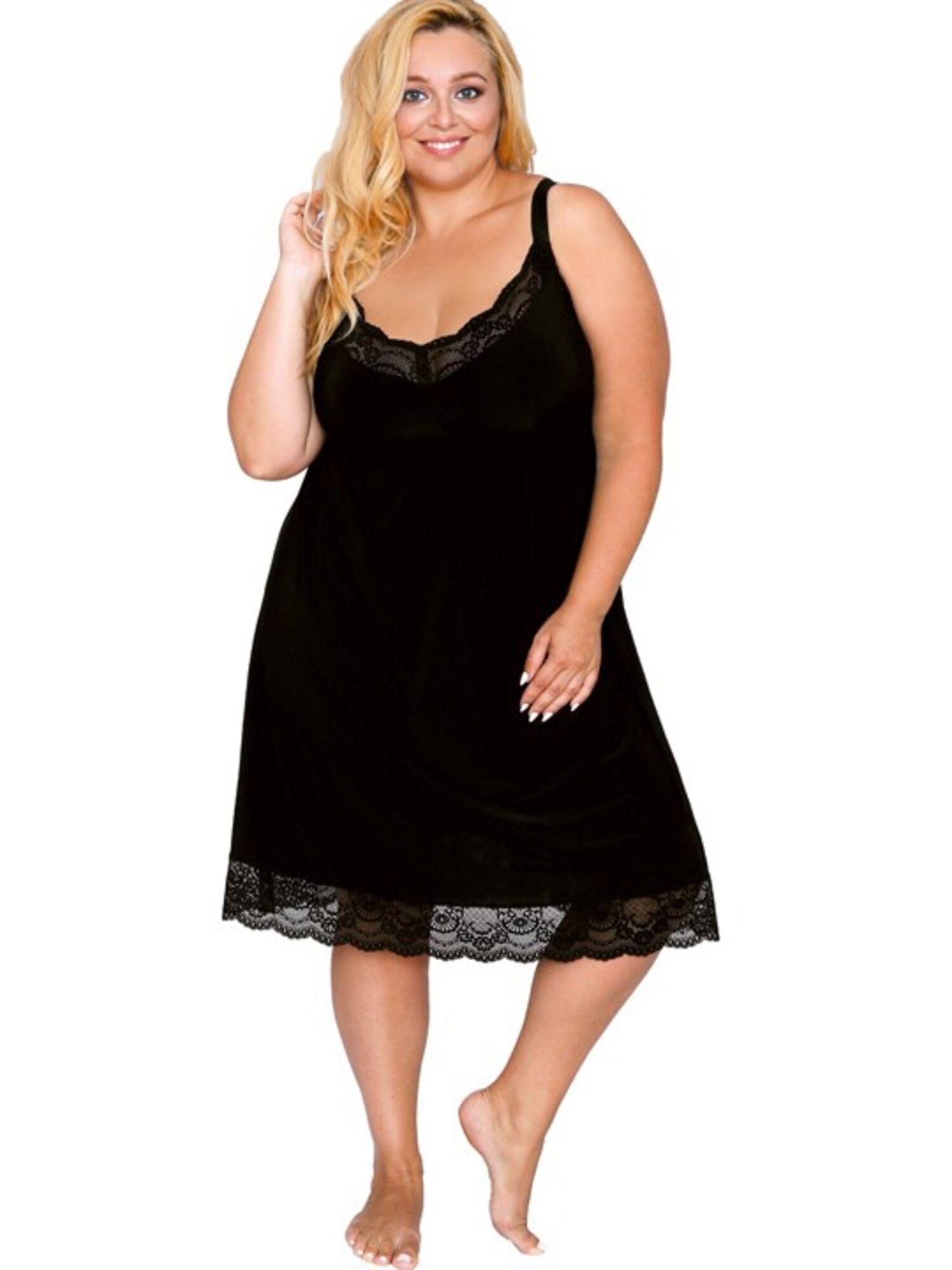 Сорочка женская из микрофибры AK_501, черный, AKCENT