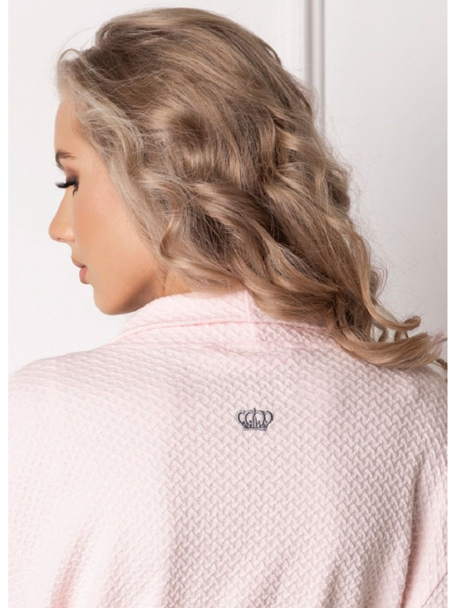 Женский халат MARSHMALLOW SHORT PINK розовый, ARUELLE (Польша)
