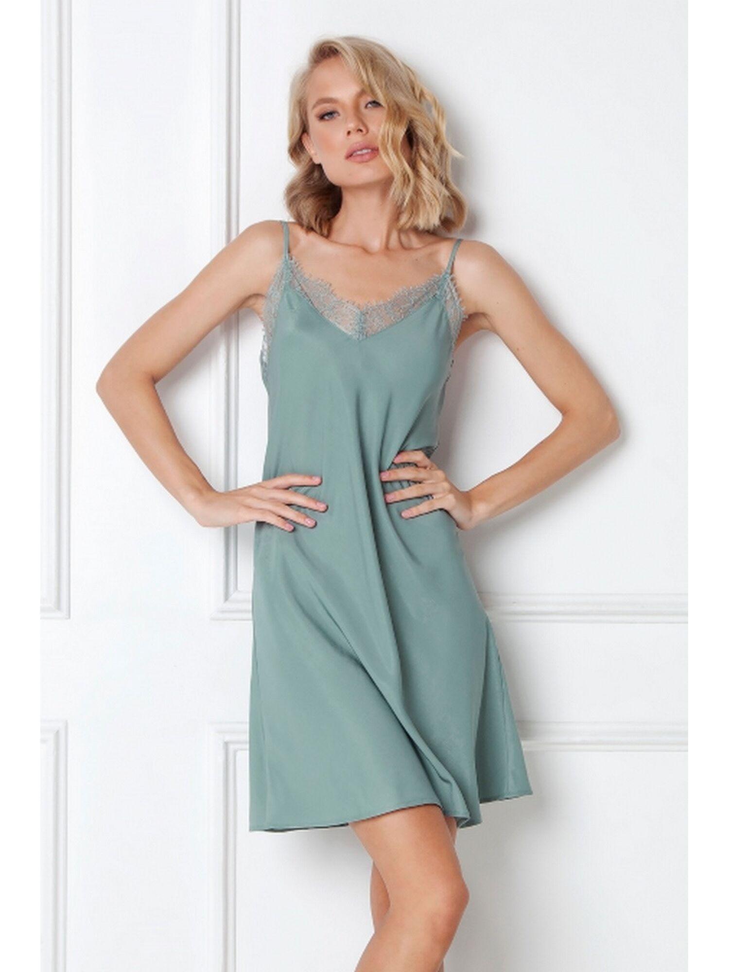Сорочка женская EMERY, зелёный, ARUELLE