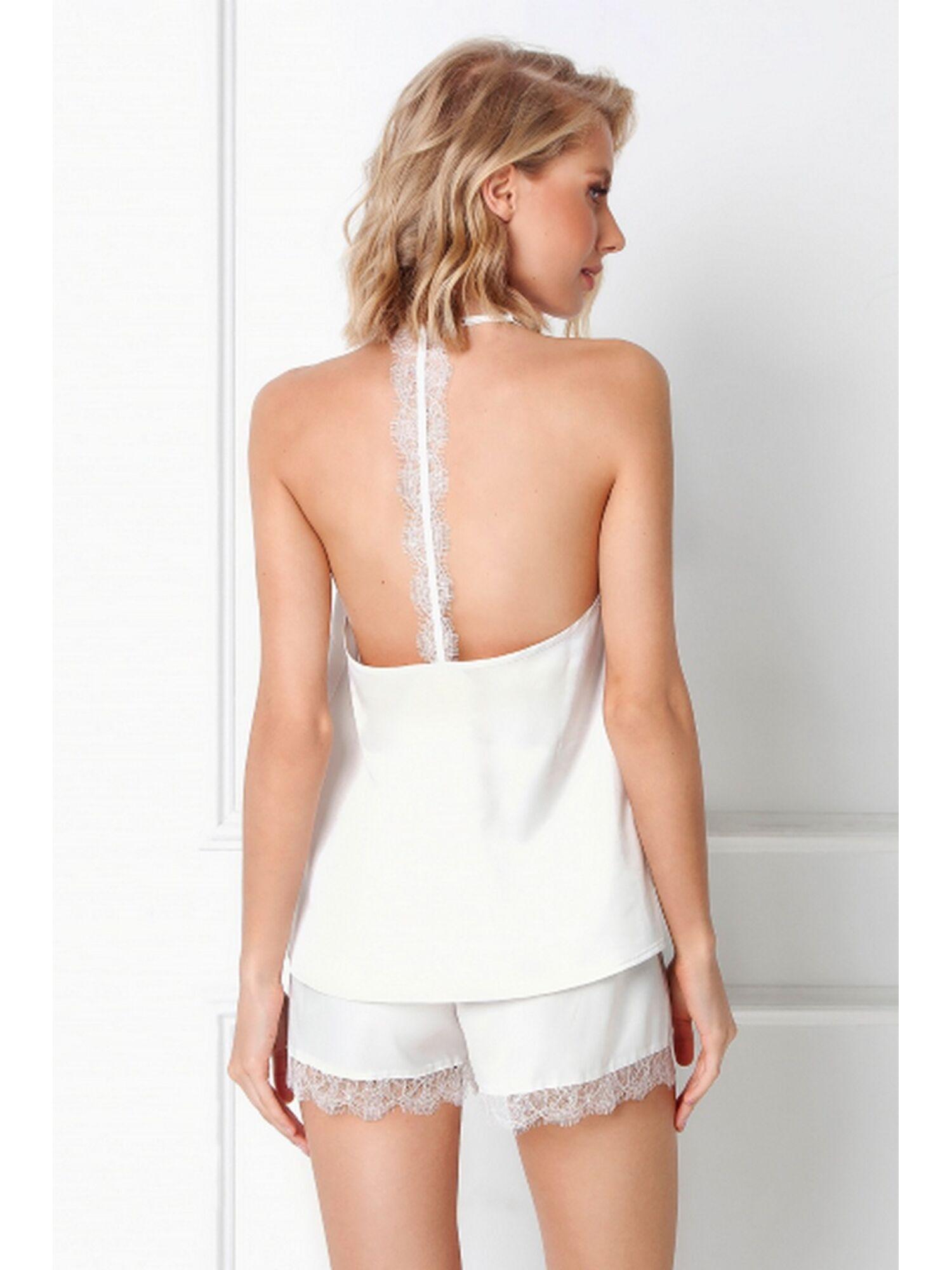 Пижама женская с шортами BRENNA, белый, ARUELLE
