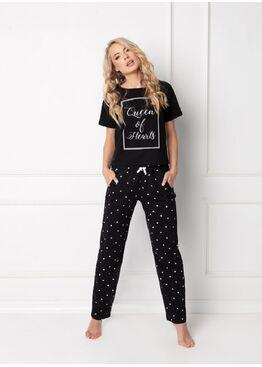 Пижама с штанами HEARTY BLACK, ARUELLE