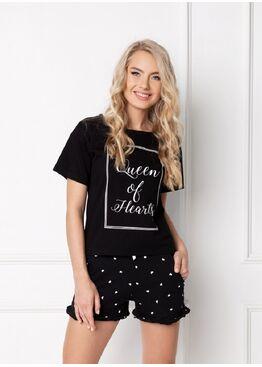 Пижама женская HEARTY BLACK, ARUELLE
