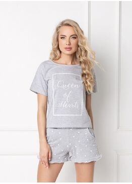 Пижама с шортами HEARTY GREY, ARUELLE