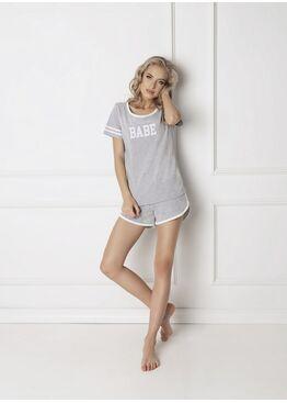 Пижама с шортами BABE серый