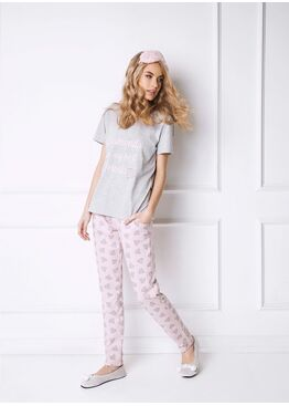 Пижама DIAMONDS серый/розовый