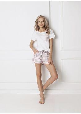 Пижама женская со шортами LONDIE WHITE