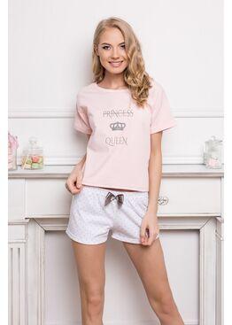 Пижама PRINCESS QUEEN 327 белый/розовый