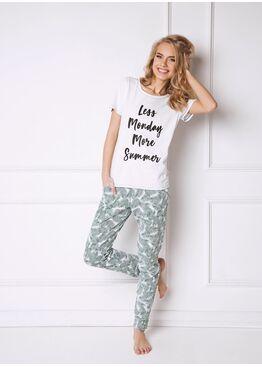 Пижама TROPICS зеленый/белый