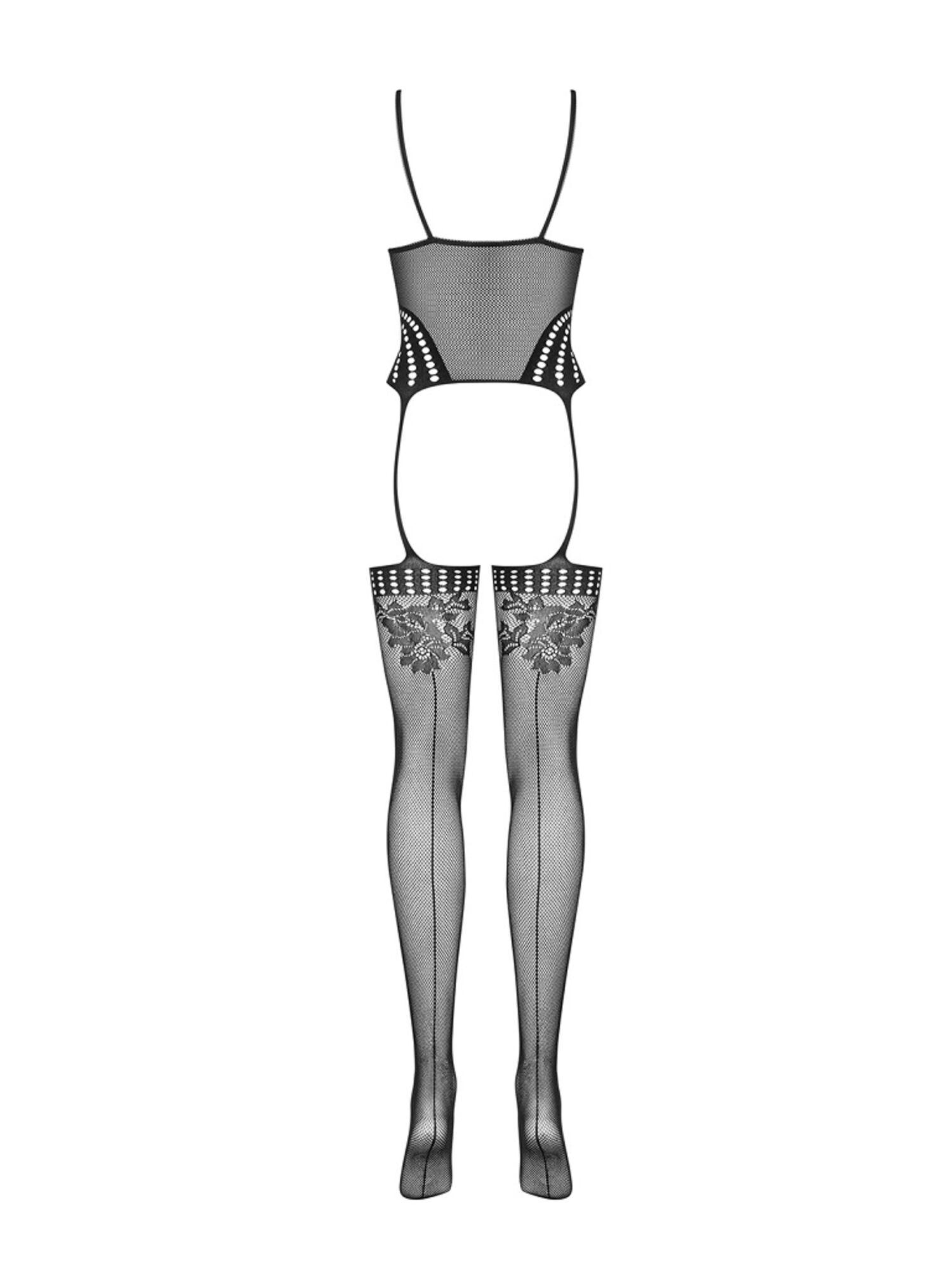 Боди эротическое F233 BODYSTOCKING черный, OBSESSIVE