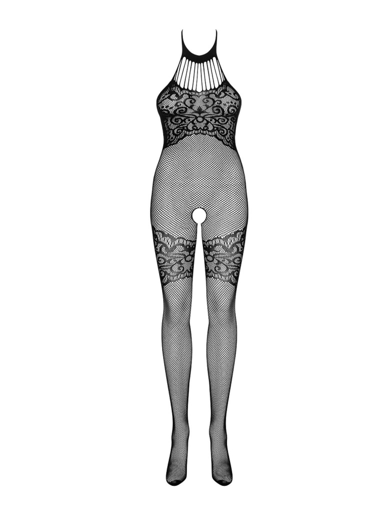 Боди эротическоеG319 BODYSTOCKING черный, OBSESSIVE