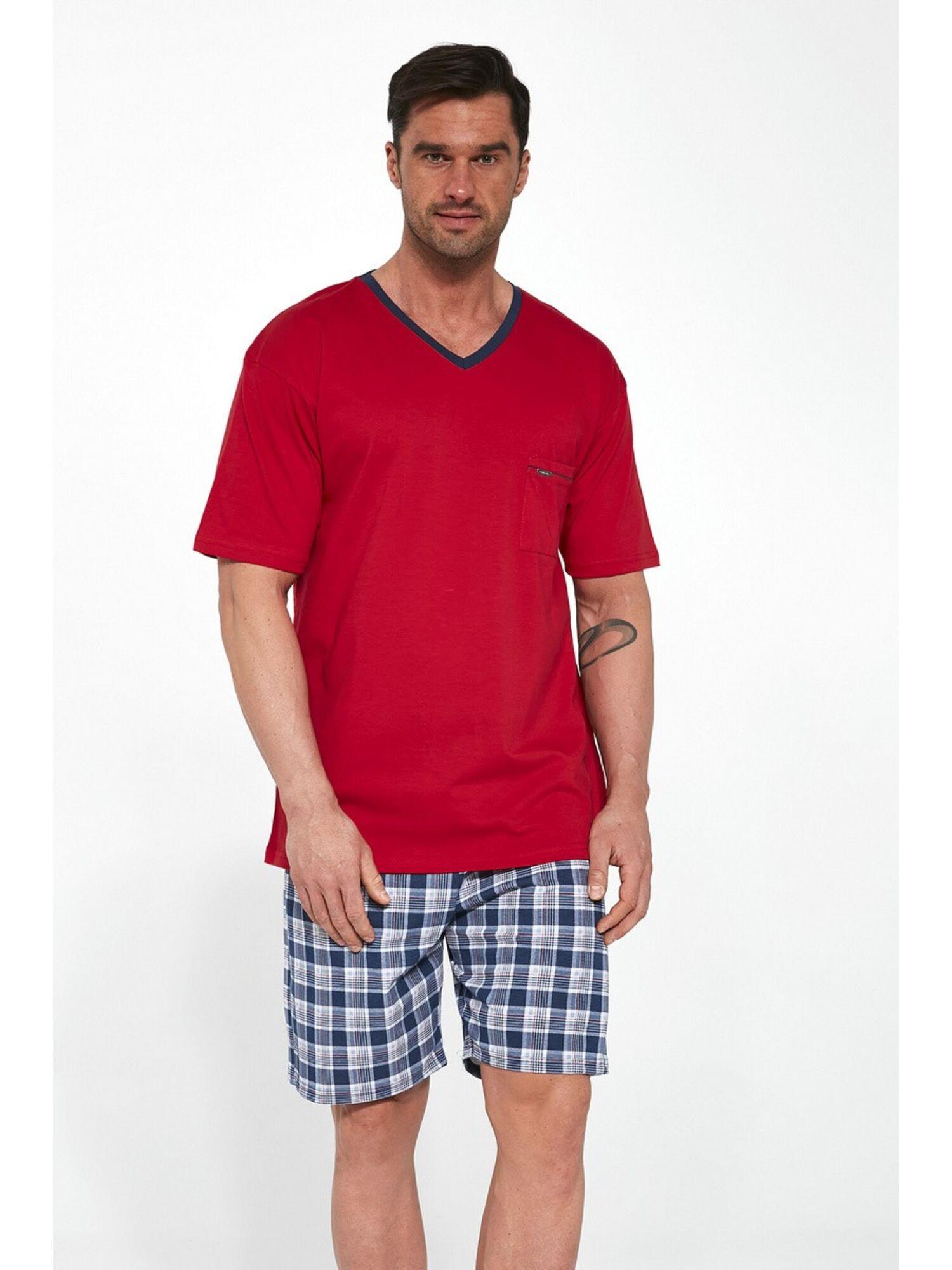 Пижама мужская с шортами 329-1, красный, Cornette