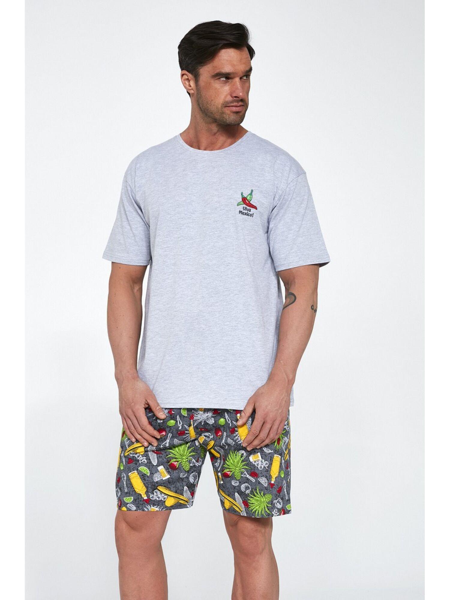 Пижама мужская с шортами 326 MEXICO, серый, Cornette