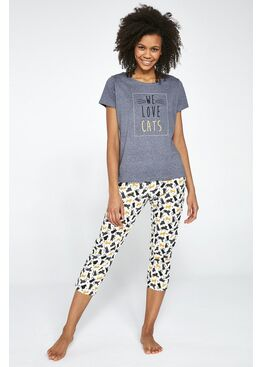 Пижама женская со штанами 497 LOVE CATS, Cornette