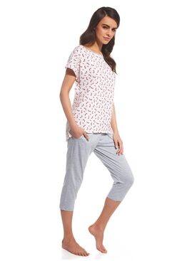 Пижама 055 CINDY розовый/серый