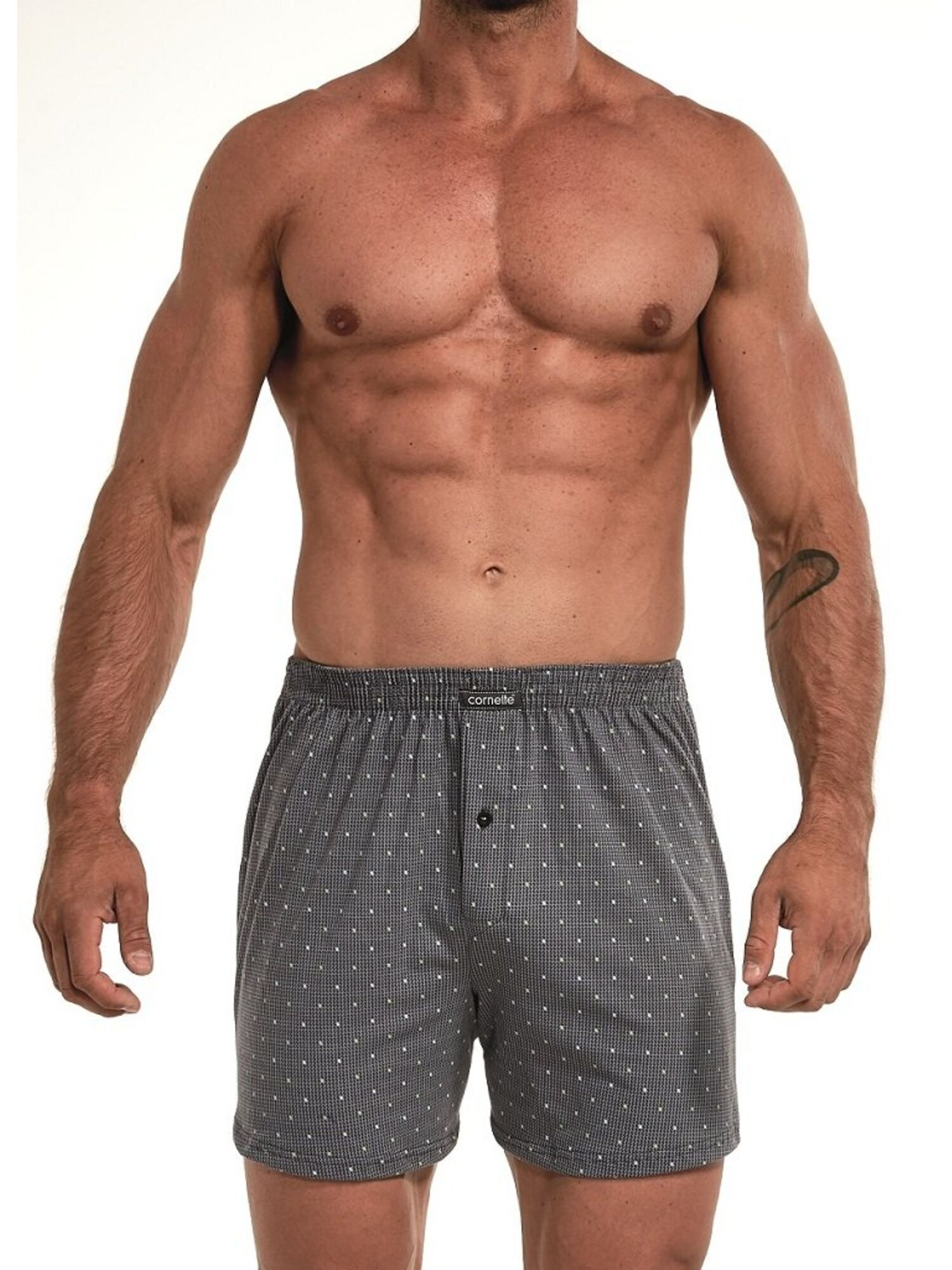 Трусы мужские боксеры из хлопка Comfort 002/008-6 серый, CORNETTE