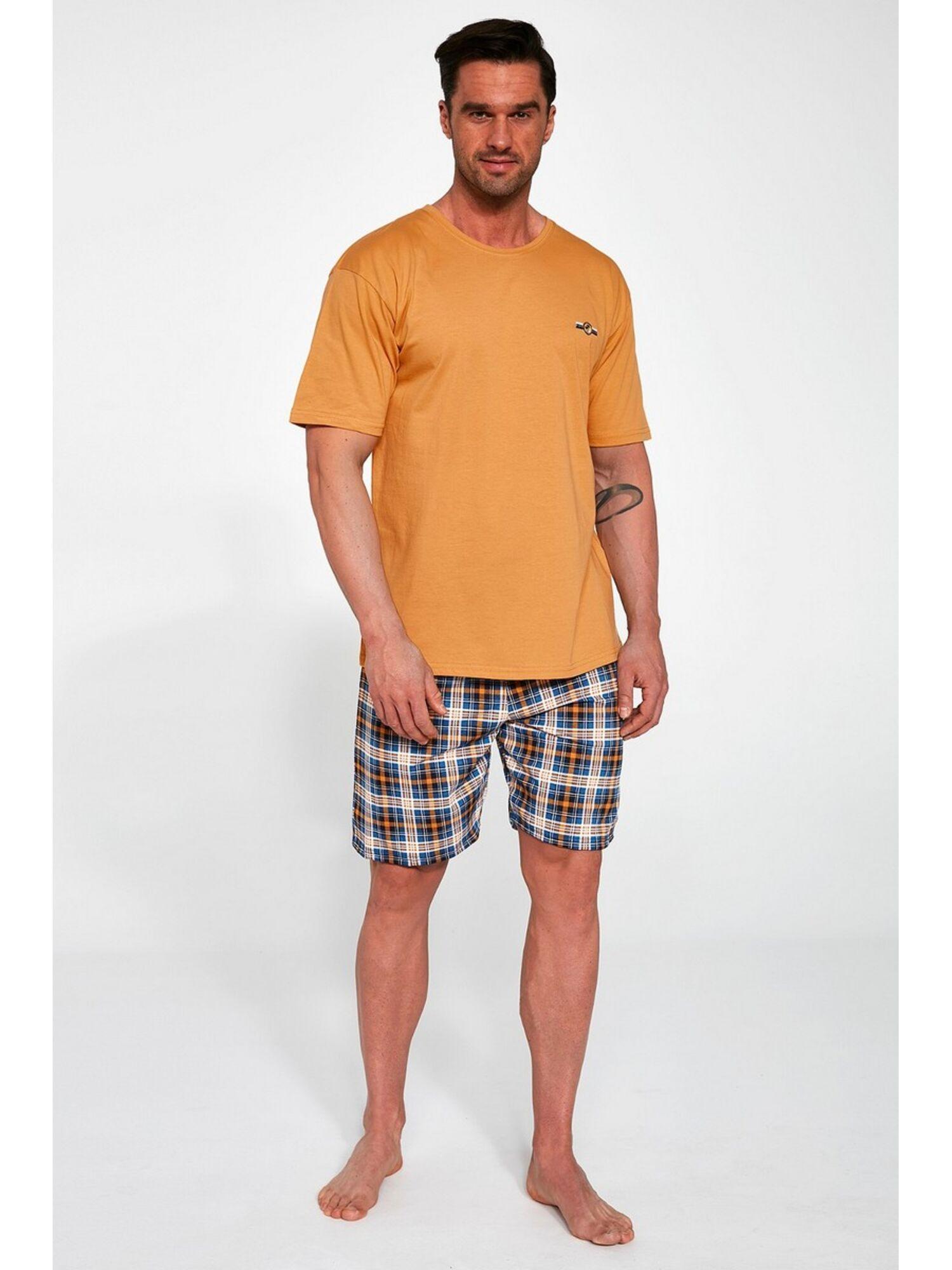 Пижама мужская с шортами 326 MARK, оранжевый, Cornette