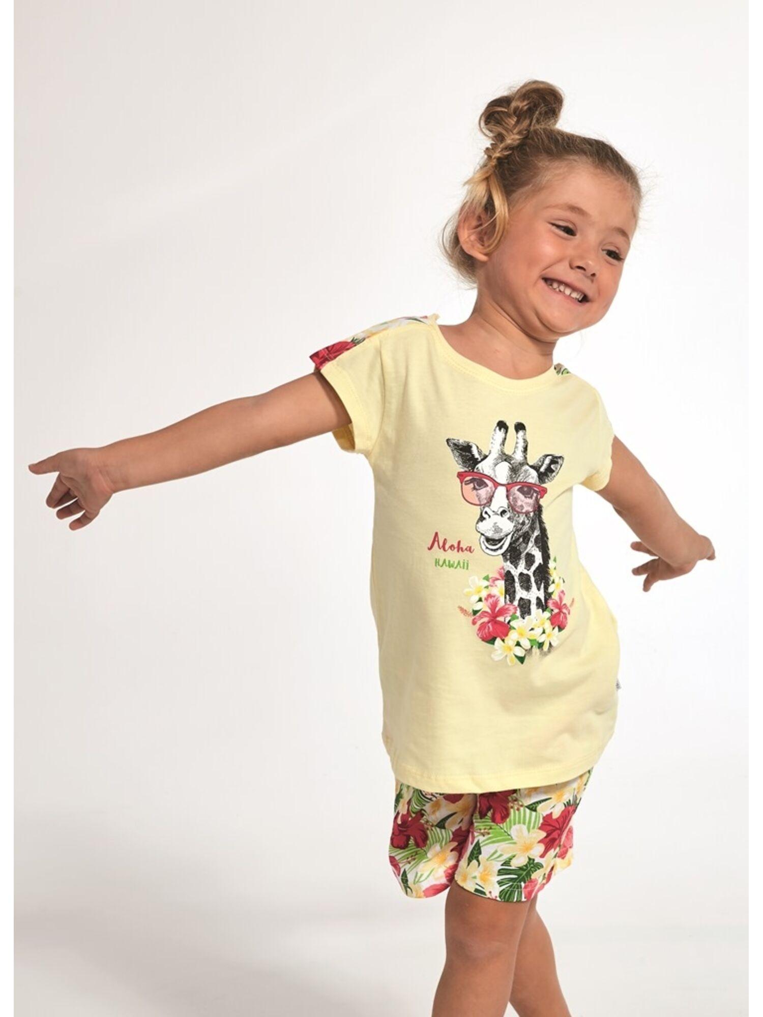 Пижама детская  хлопковая с шортами 245/246, желтая, CORNETTE