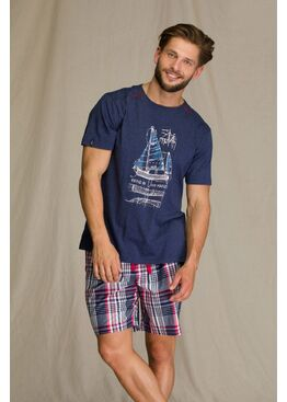 Пижама мужская с шортами MNS 710 A21, KEY