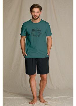 Пижама мужская с шортами MNS 709 A21, KEY