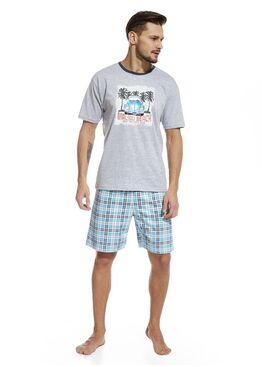 Пижама 326 серый/голубой
