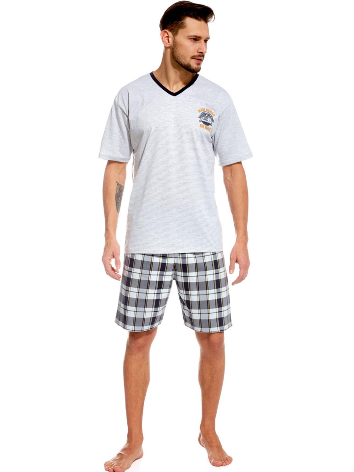 Пижама мужская с шортами 326 серый/графит