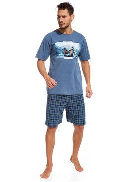 Пижама 326 т.синий/голубой