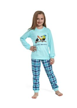Пижама детская 592/594 бирюзовый/синий