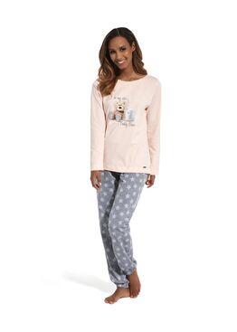 Пижама 627 розовый/серый