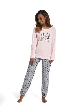 Пижама 627 серый/розовый