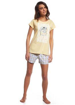 Пижама 665 желтый/серый