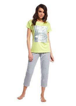 Пижама 670 зеленый/серый