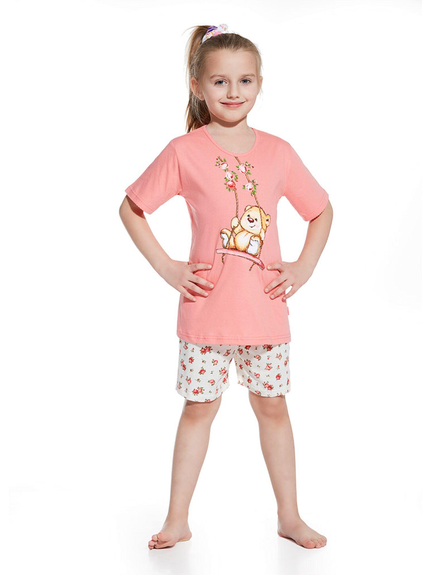 Пижама детская для девочек 787/788 розовый/экри