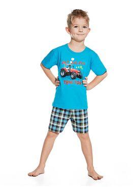 Пижама детская 789/790 бирюзовый/синий