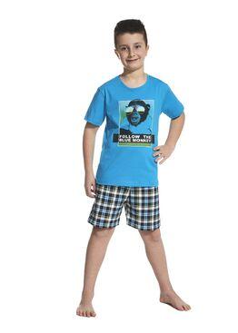 Пижама детская 789/790 черный/голубой