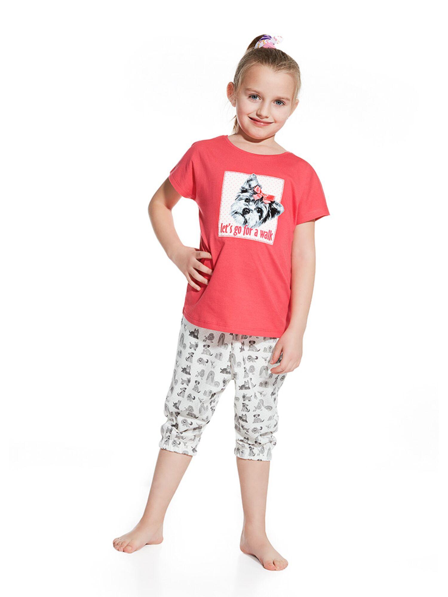 Пижама детская для девочек 080/081 серый/розовый