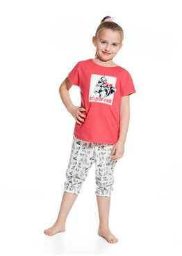 Пижама детская 080/081 серый/розовый