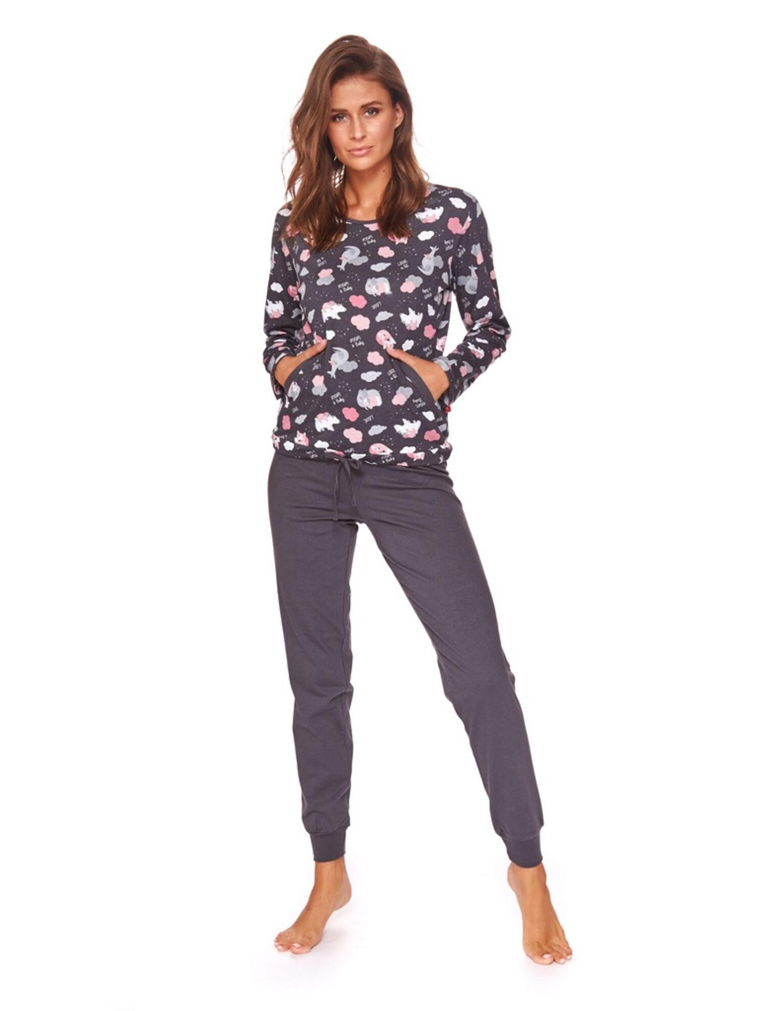 Пижама женская со штанами 4118 PM, серый, DOCTOR NAP