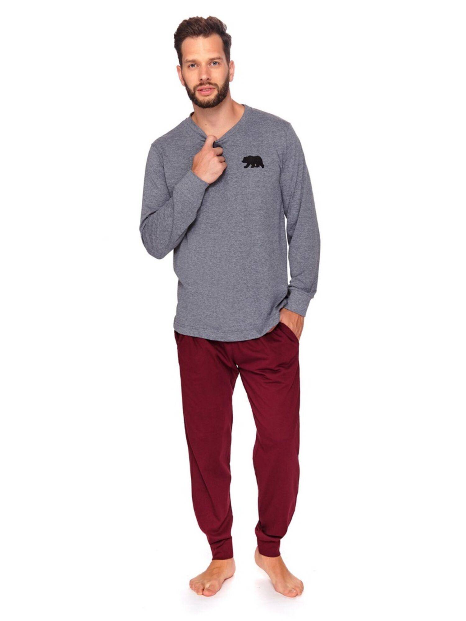 Пижама мужская со штанами 9509 PMB, серый, DOCTOR NAP