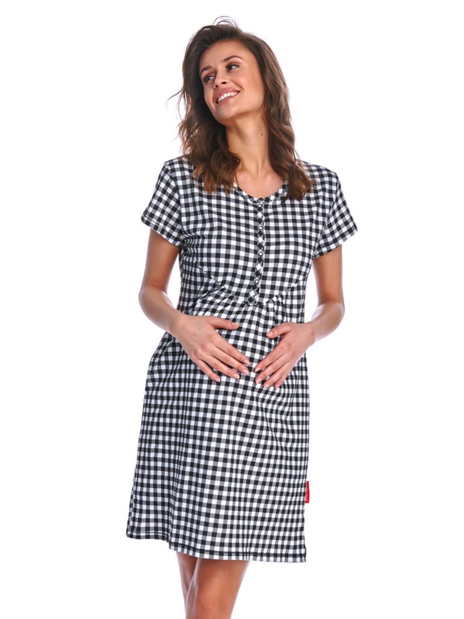 Сорочка женская хлопковая 9939 TCB, черный, DOCTOR NAP