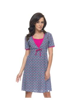 Сорочка TCB.4044 серый/розовый