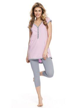 Пижама PM5037 серый/розовый