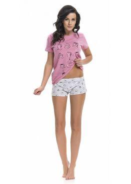 Пижама PM9212 розовый/серый