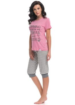Пижама PM9218 серый/розовый