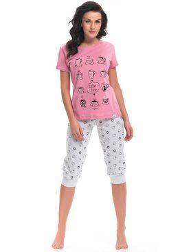 Пижама PM9222 серый/розовый