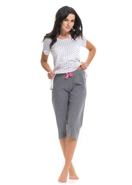 Пижама PM9239 белый/серый