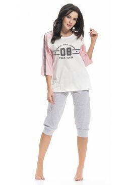Пижама PM9248 серый/розовый