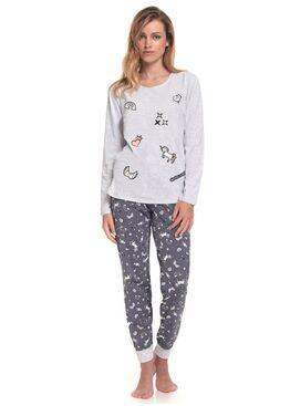 Пижама PM.9346 серый/графит