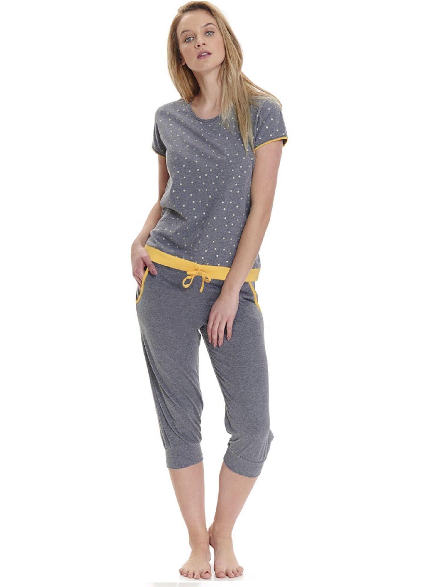 Пижама женская с бриджами 9416 PM серый