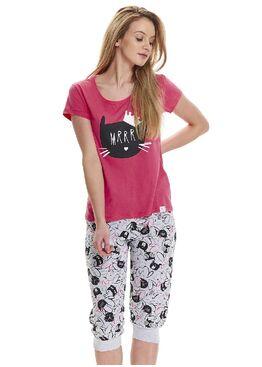 Пижама 9431 PM серый/розовый